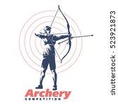archery. sport emblem | Shutterstock .eps vector #523921873