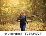 Blonde Woman Jogging In Mornin...