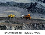 extraction of iron ore in... | Shutterstock . vector #523927903