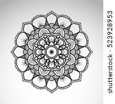 vector abstract flower mandala. ... | Shutterstock .eps vector #523928953