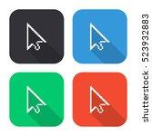 pixel cursor vector icon  ... | Shutterstock .eps vector #523932883
