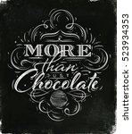 poster chocolate in vintage... | Shutterstock .eps vector #523934353