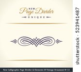new calligraphic page divider... | Shutterstock .eps vector #523941487