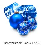 Christmas And New Year Blue...