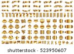 banner ribbon label gold vector ... | Shutterstock .eps vector #523950607