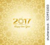 happy new year 2017  vector...   Shutterstock .eps vector #523951003