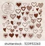 collection of doodle sketch... | Shutterstock .eps vector #523952263
