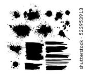 set of ink spots. vector | Shutterstock .eps vector #523953913