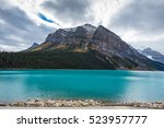 Small photo of Beautiful autumn views of iconic Lake Louise in Banff National Park in the Rocky Mountains of Alberta Canada
