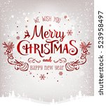 christmas and new year... | Shutterstock .eps vector #523958497