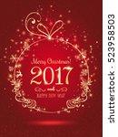 gold christmas ball for merry... | Shutterstock .eps vector #523958503