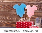 decoration for baby shower on... | Shutterstock . vector #523962373