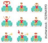 set icon hipster man with...   Shutterstock .eps vector #523964593