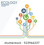 ecology mechanism concept.... | Shutterstock .eps vector #523966237