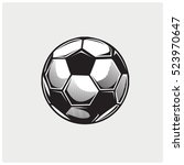 soccer ball icon. logo vector... | Shutterstock .eps vector #523970647