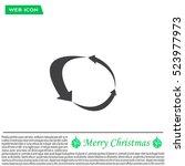 arrow circle icon   cycle  loop ... | Shutterstock .eps vector #523977973
