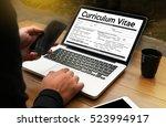 cv   curriculum vitae   job...   Shutterstock . vector #523994917