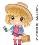 illustration of a cute little... | Shutterstock .eps vector #523995547