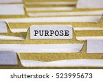 Small photo of Purpose word on card index paper