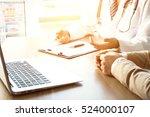 doctor and patient   Shutterstock . vector #524000107