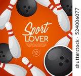 sport lover   sport equipment... | Shutterstock .eps vector #524006077