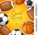 sport lover   sport equipment... | Shutterstock .eps vector #524006317