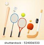 sport lover   sport equipment... | Shutterstock .eps vector #524006533