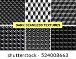 collection of geometric black... | Shutterstock .eps vector #524008663