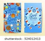 sport lover   sport equipment... | Shutterstock .eps vector #524012413