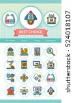 icon set technology vector | Shutterstock .eps vector #524018107