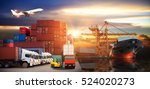logistics and transportation of ... | Shutterstock . vector #524020273