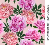 flowers bright texture. floral... | Shutterstock .eps vector #524020333