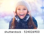 Winter Young Woman Portrait....