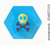 Skull Icon   Vector Flat Long...