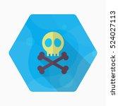 Skull Icon   Vector Flat Long...