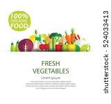 vegetables vector illustration | Shutterstock .eps vector #524033413