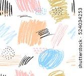 hand drawn pastel stroke... | Shutterstock .eps vector #524034253