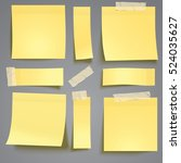 yellow sticky note with... | Shutterstock .eps vector #524035627
