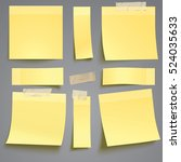 vector yellow sticky note with... | Shutterstock .eps vector #524035633