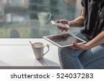 digital lifestyle blog writer... | Shutterstock . vector #524037283