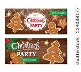 invitation merry christmas... | Shutterstock .eps vector #524038177