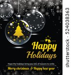 happy holiday greeting banner... | Shutterstock .eps vector #524038363