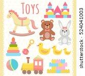 toys set. flat design | Shutterstock .eps vector #524041003