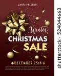 christmas or new year sale... | Shutterstock .eps vector #524044663