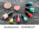 set of decorative cosmetics on... | Shutterstock . vector #524048137