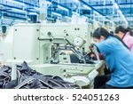 labor force work in the garment ... | Shutterstock . vector #524051263