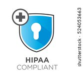 hipaa compliance icon graphic... | Shutterstock .eps vector #524053663