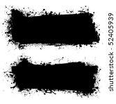grunge ink splat banner with... | Shutterstock .eps vector #52405939