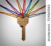 community key or network... | Shutterstock . vector #524065063