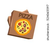 pizza carton box   Shutterstock .eps vector #524065597